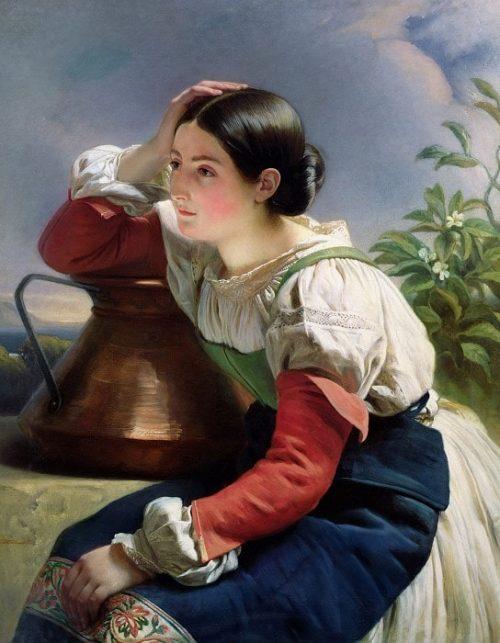 Молодая итальянка у колодца.