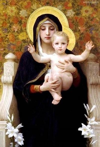 Богородица с лилиями