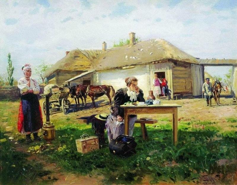 Приезд учительницы в деревню