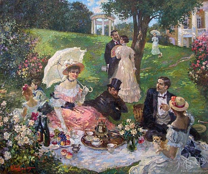 Пикник в розовом саду