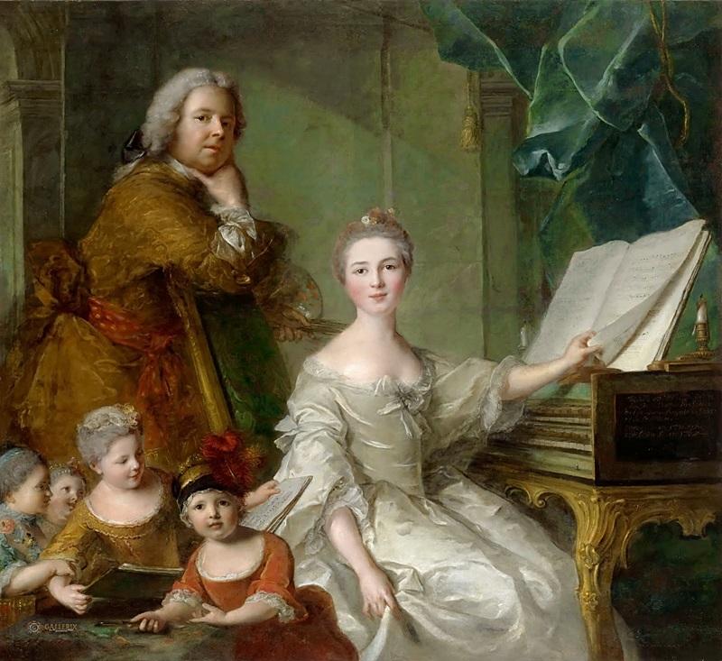 Автопортрет с семьей.