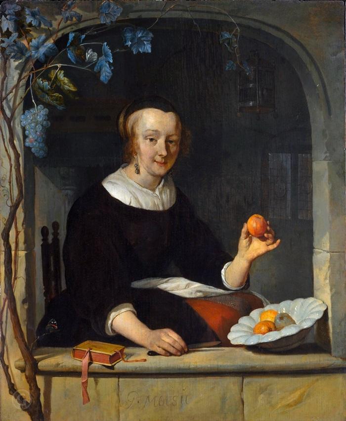 Женщина, сидящая у окна