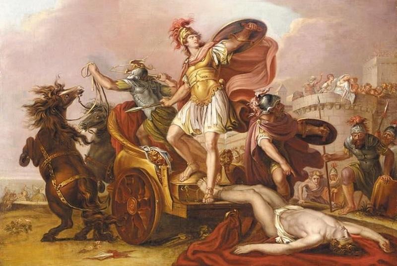 Ахилл, влекущий тело Гектора вокруг стен Трои