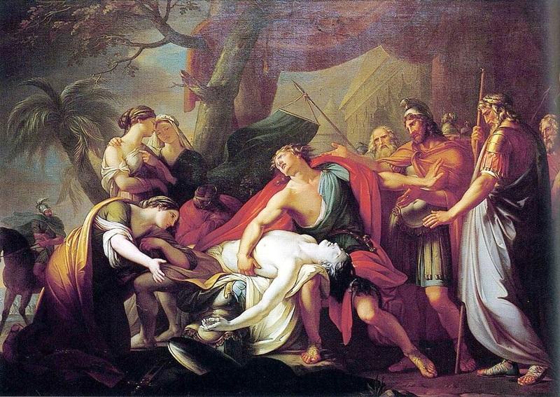 Ахилл, оплакивающий смерть Патрокла