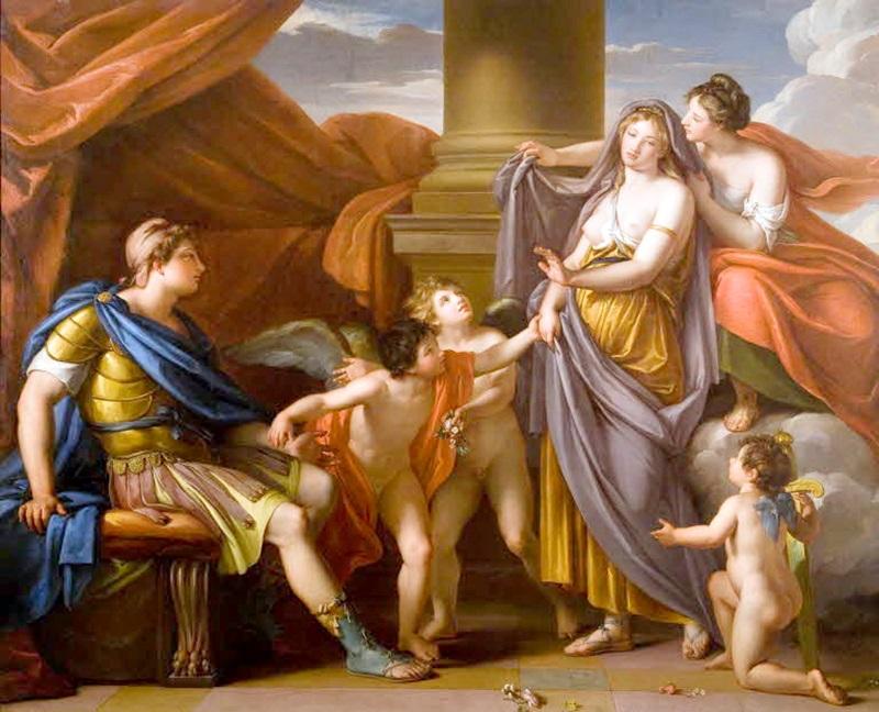 Венера дарует Парису Елену