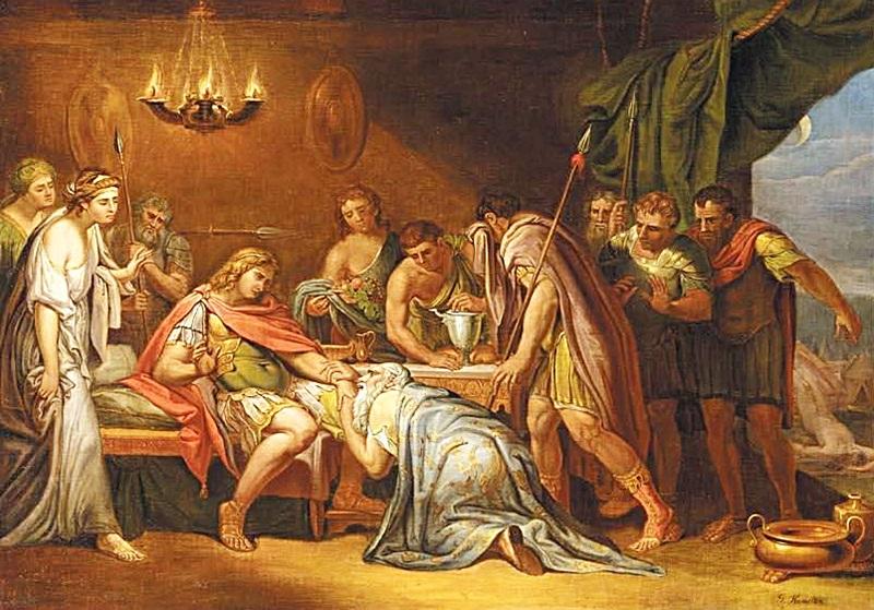 Приам, испрашивающий у Ахилла тело Гектора