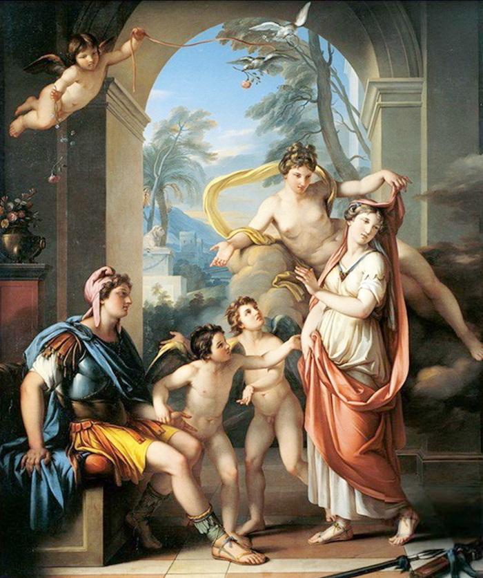 Венера обещает Парису дать в жены Елену