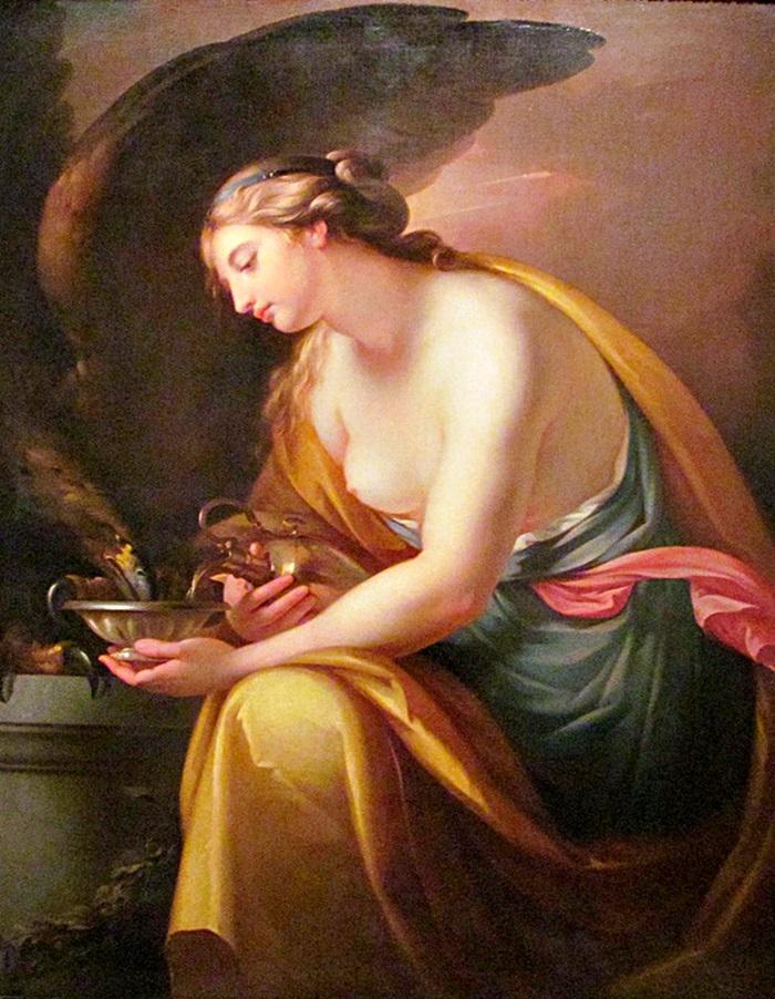 Геба поит орла Зевса