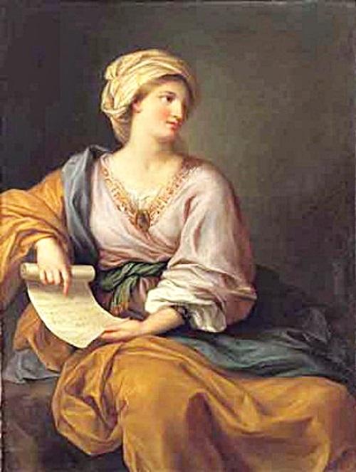 Эммa Гамильтон в образе cивиллы