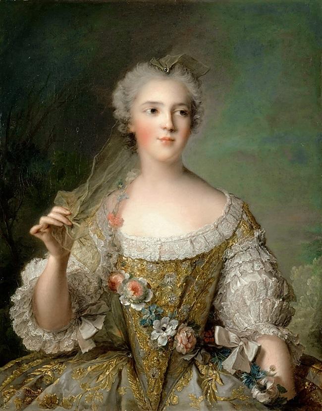 Marie-Genevieve Boudrey в образе музы.