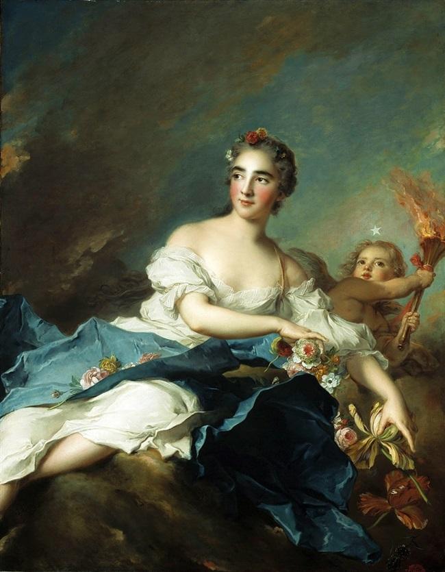Графиня де Брач, в образе  Авроры.