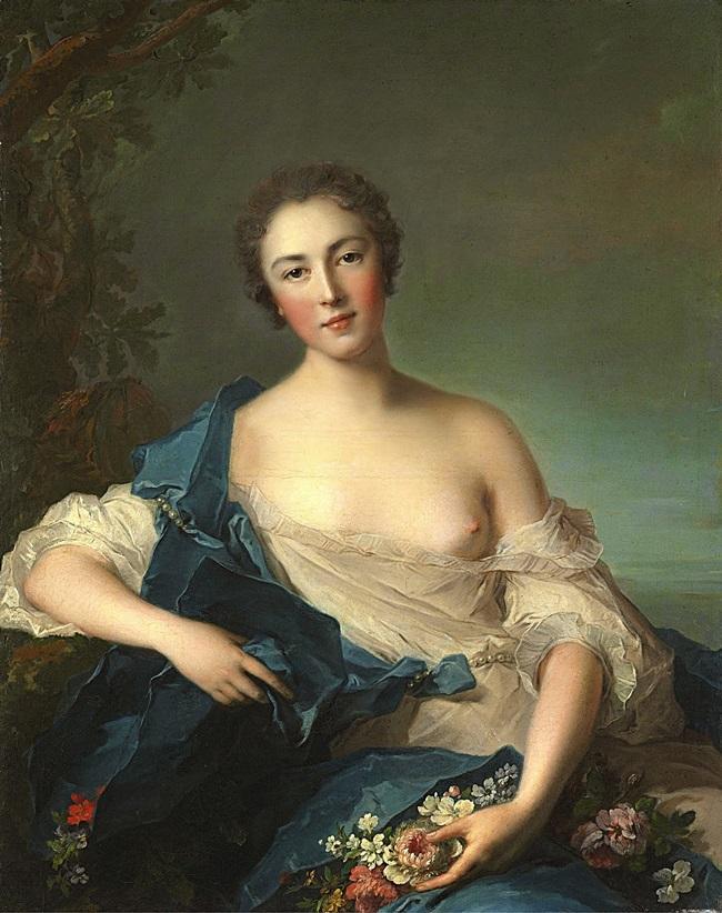 Женский портрет в образе Флоры.