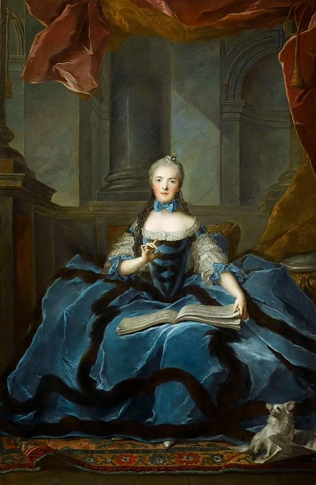 Мадам Аделаида, дочь Людовика XV, с нотной тетрадью.