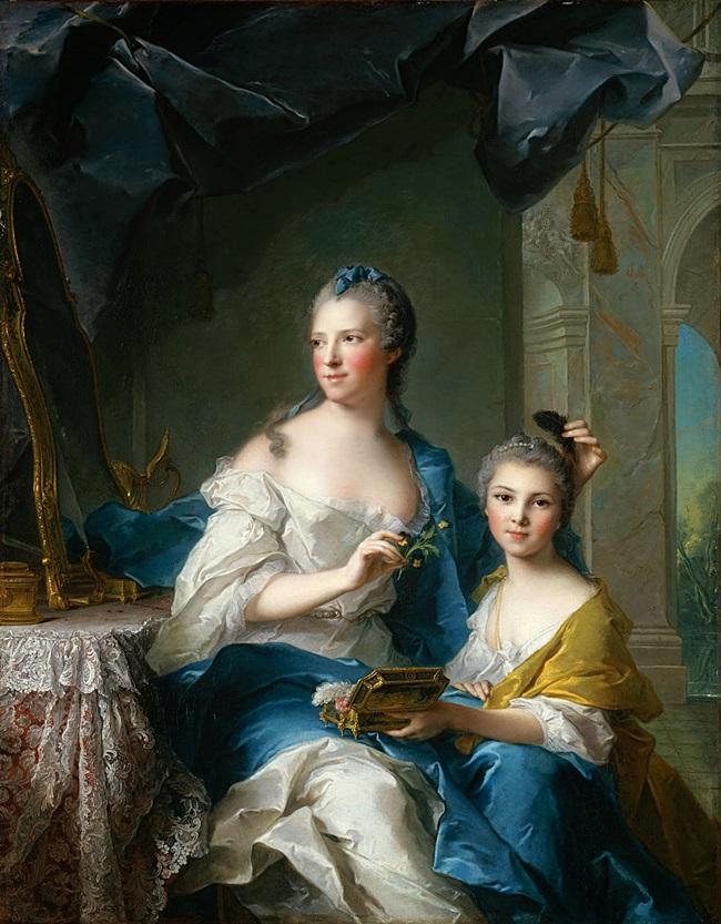 Мадам Марсолье с дочерью.