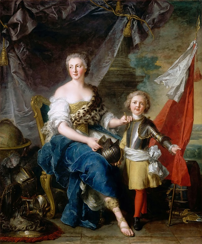 Мадмуазель де Ламбеск в образе Минервы вооружает своего брата, графа де Брионна.