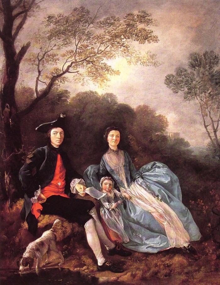 Портрет художника с его женой и дочерью