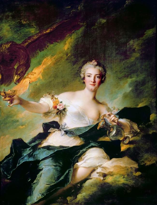 Портрет герцогини де Шольн в образе Гебы.