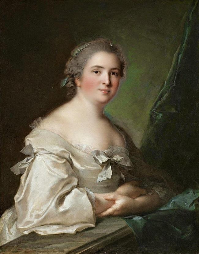 Портрет дамы, опирающейся на балюстраду.