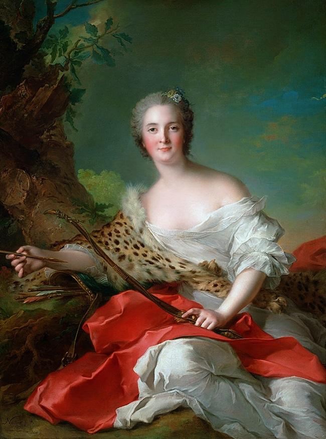 Портрет Констанс-Габриэль-Мадлен Боннье де ла Моссон в образе Дианы.