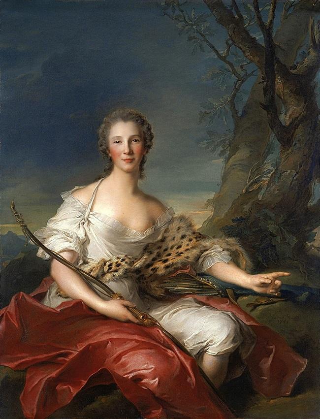 Портрет мадам Bouret в образе Дианы.