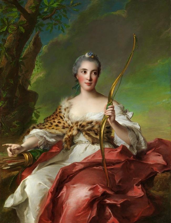 Портрет мадам де Мезон-Руж в образе Дианы.