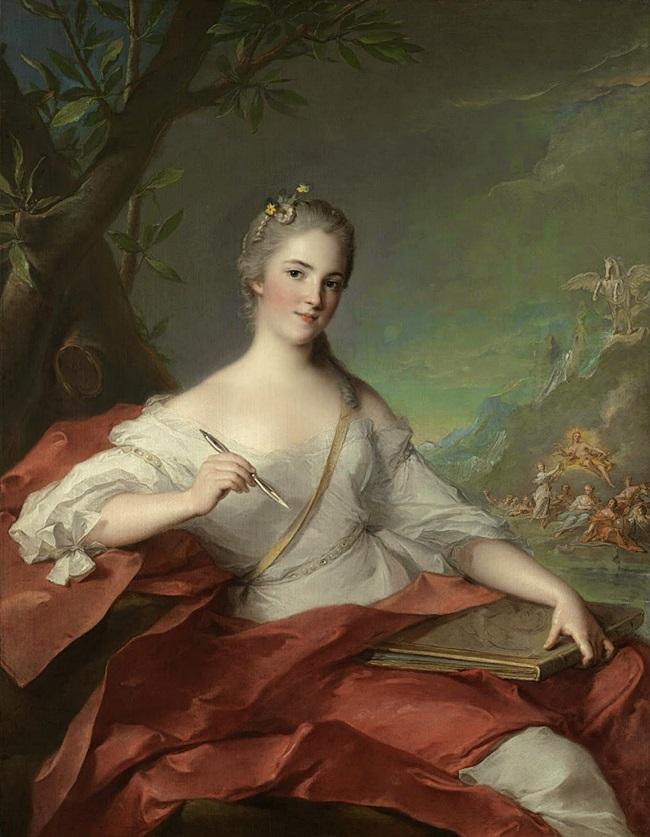 Портрет Марии-Женевьевы Бодри в образе музы.