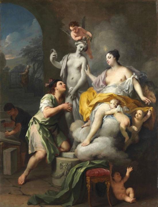 Пигмалион и Галатея.