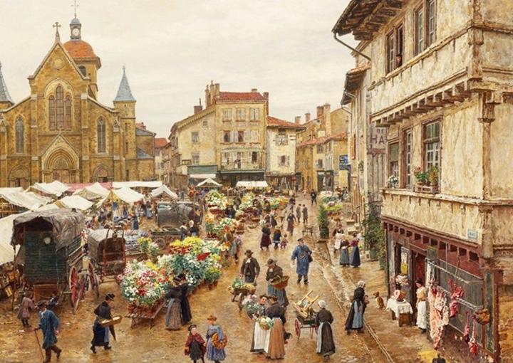 Рынок в Шарльё.