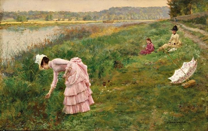 Сбор полевых цветов.
