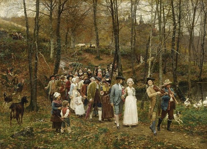 Свадебная процессия.