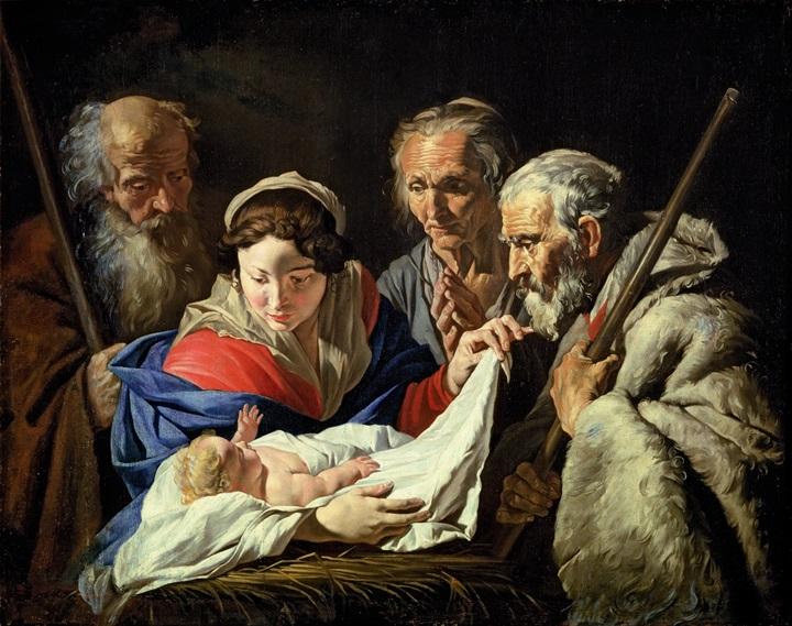Поклонение младенцу Христу.