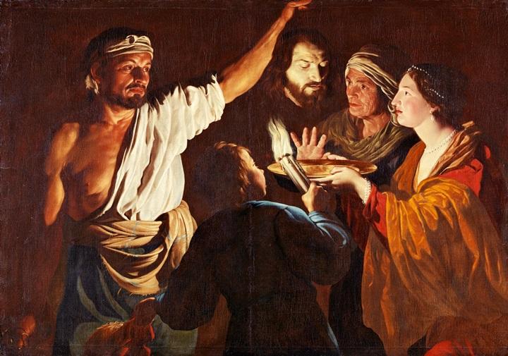 Саломея получает голову Иоанна Крестителя.