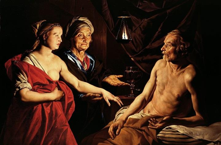 Сара приводит Агарь к Аврааму.