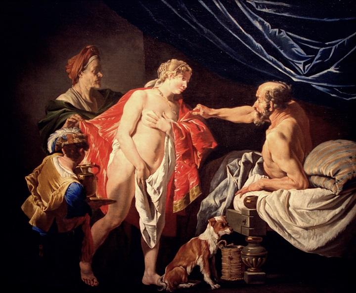 Сара, Агарь и Авраам.