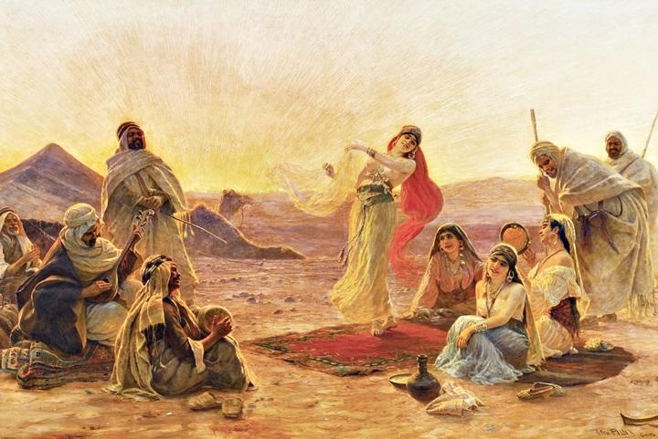 Танец в пустыне.