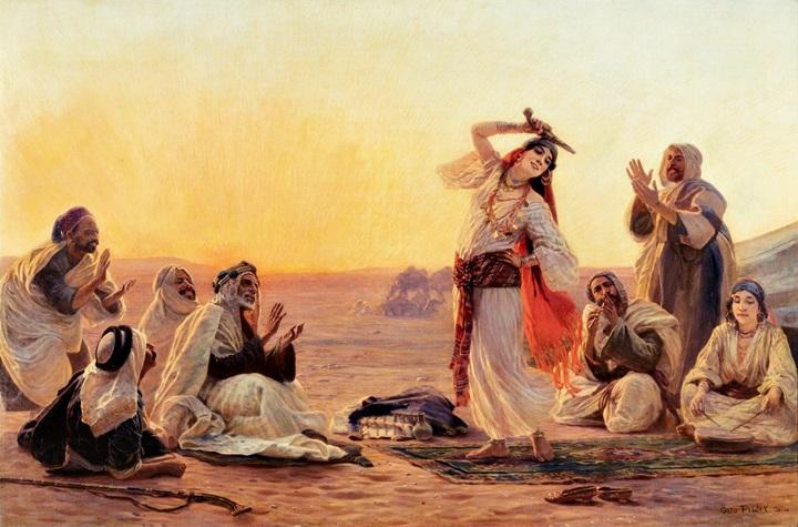 Танец на закате.