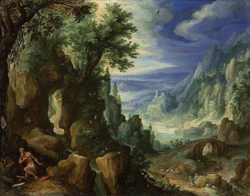 Горный пейзаж со святым Иеронимом.