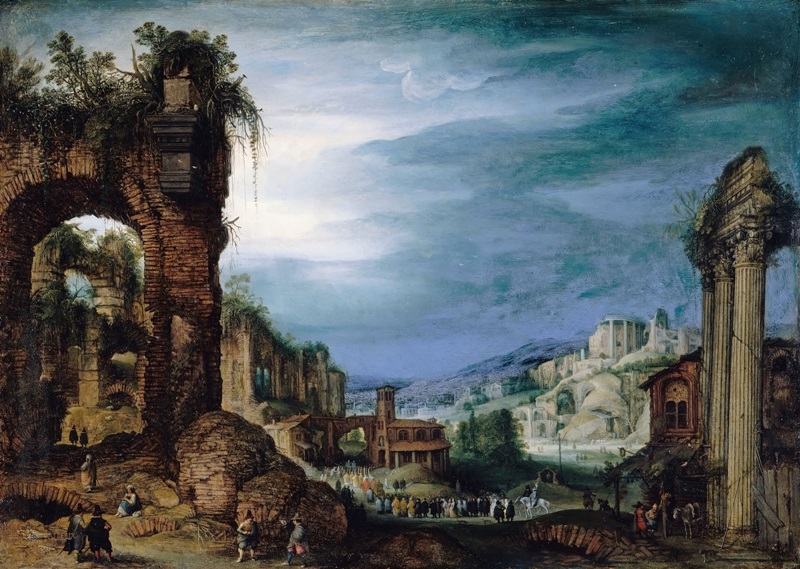 Римский пейзаж с руинами.