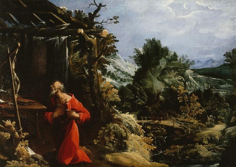 Святой Иероним в пустыне.