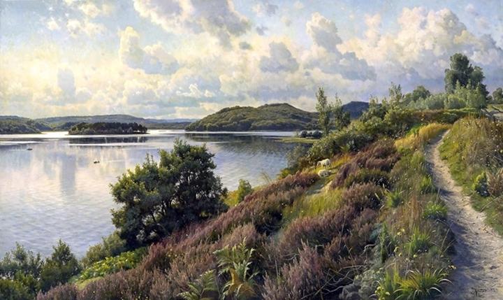 Вид Borreso от Himmelbjerget, Дания