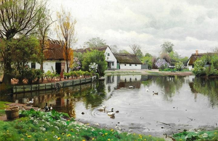 Деревенский пруд в Херстедвестере