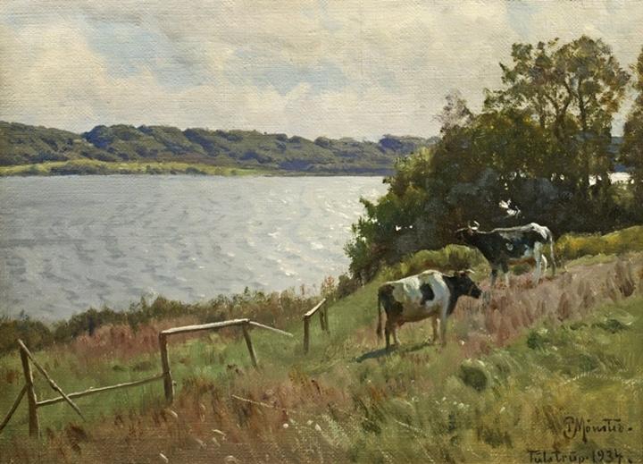 Летний пейзаж с коровами