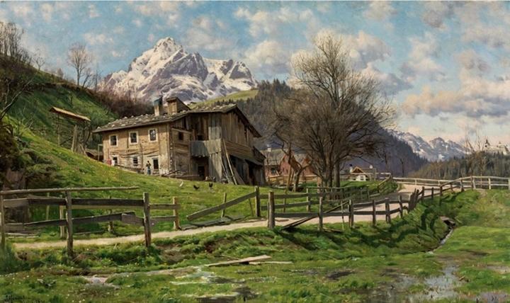 Пейзаж с домом в Верфене