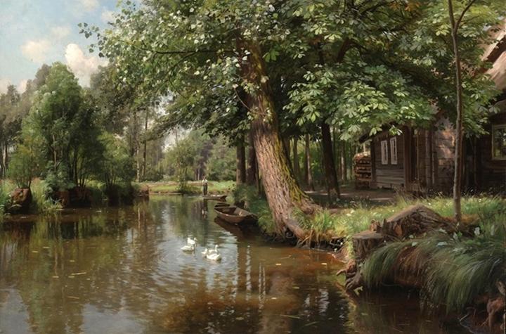 По реке