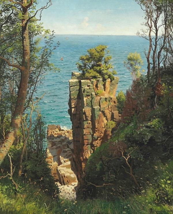 Прибрежный вид со скалами, Борнхольм
