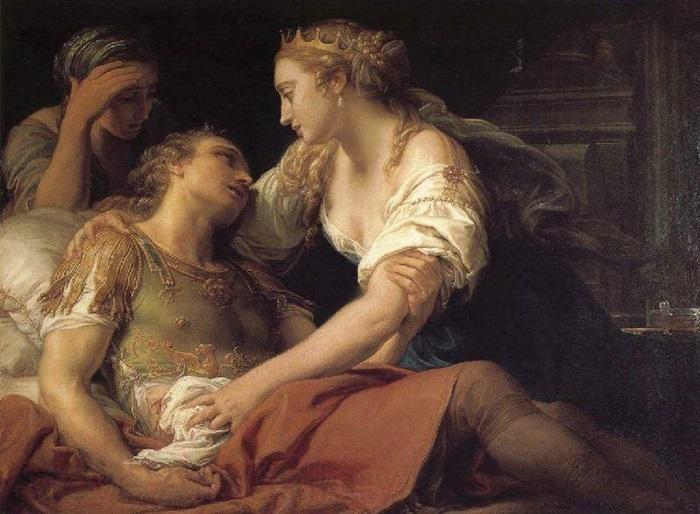 Клеопатра и Марк Антоний.