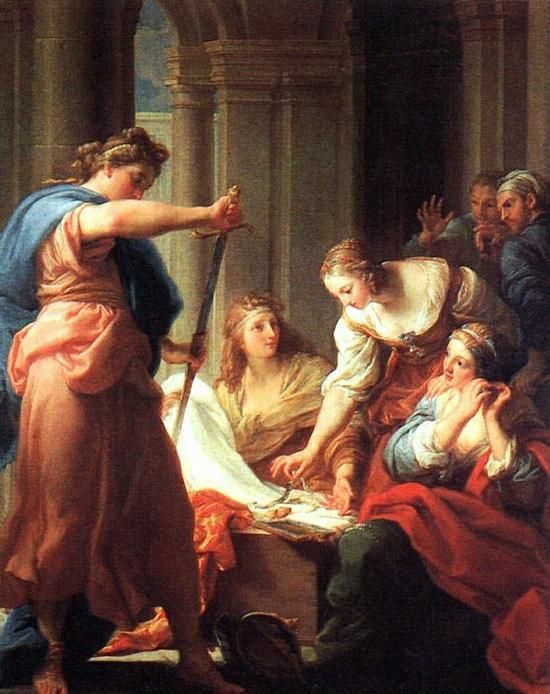 Ахилл при дворе Ликомеда.