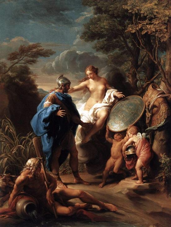 Венера, дарящая Энею доспехи.