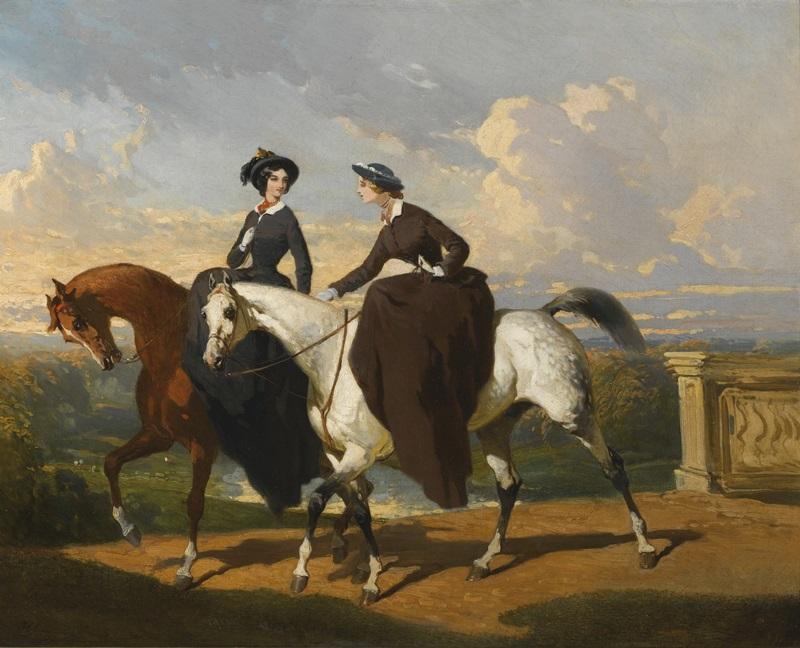 Две амазонки на лошадях