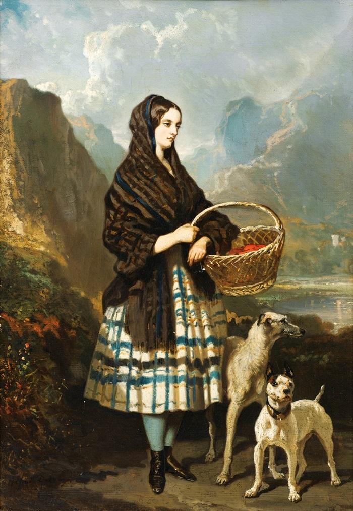 Молодая женщина с собаками